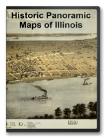 Illinois 64 City Panoramic Maps on CD