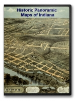 Indiana 17 City Panoramic Maps on CD