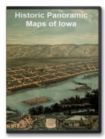 Iowa 21 City Panoramic Maps on CD