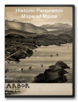 Maine 28 City Panoramic Maps on CD