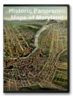 Maryland 12 City Panoramic Maps on CD