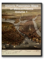 Massachusetts V1 52 City Panoramic Maps on CD