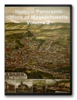 Massachusetts V2 60 City Panoramic Maps on CD