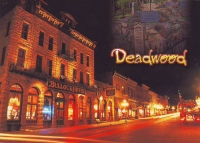 Deadwood, South Dakota at Night Postcard