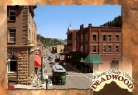 Deadwood, South Dakota Street Postcard