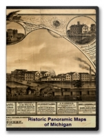 Michigan 45 City Panoramic Maps on CD