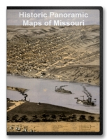 Missouri 41 City Panoramic Maps on CD