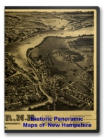 New Hampshire 42 City Panoramic Maps on CD