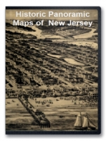 New Jersey 43 City Panoramic Maps on CD