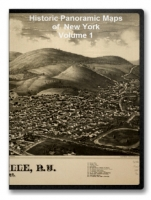 New York Volume 1 90 City Panoramic Maps on CD