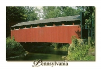 Old Keefer Covered Bridge, Montour County, Pennsylvania Postcard