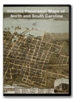 North Carolina and South Carolina 16 City Panoramic Maps on CD