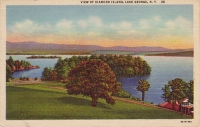 Diamond Island, Lake George, New York Postcard