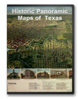 Texas 21 City Panoramic Maps on CD