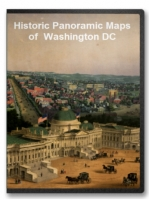 Washington DC (District of Columbia) 18 City Panoramic Maps on CD