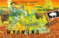 Cowboy Country Wyoming Postcard