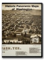 Washington 20 City Panoramic Maps on CD