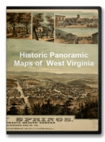 West Virginia 29 City Panoramic Maps on CD
