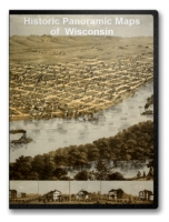 Wisconsin 62 City Panoramic Maps on CD