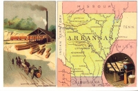 Arkansas Reproduction Vintage Postcard
