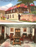 Oldest House, St. Augustine, Florida - Set of 2 Postcards