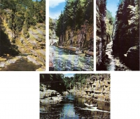 Ausable Chasm, New York - Set of 4 Postcards