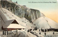 Ice Mountain, Niagara Falls, New York Postcard