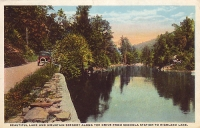 Drive to Highland Lake, New York Postcard