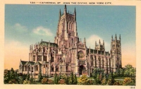 Cathedral St John the Devine, New York City Postcard