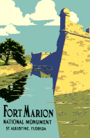 Fort Marion, Florida 11x17 Poster