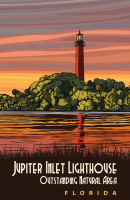 Jupiter Island, Florida Lighthouse 11x17 Poster