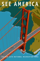 Golden Gate, California 11x17 Poster