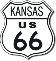 Kansas Route 66 Road Tin Sign