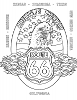 Route 66 Eagle Coloring Page (Download)