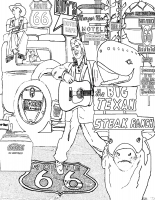 Route 66 Icons Coloring Page (Download)