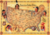 American Indian Tribes Large Poster (17x24)