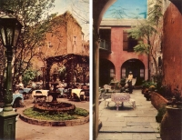 New Orleans, Louisiana Courtyards - Set of 2 Postcards