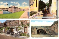 St. Augustine, Florida - Set of 4 Postcards