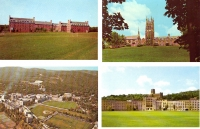 New York Schools - Set of 4 Postcards