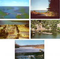 New York Lakes - Set of 5 Postcards