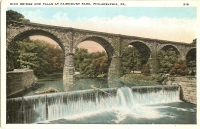Bridge and Falls, Fairmount Park, Philadelphia, PA Postcard
