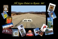 Route 66 - All Signs Point to Route 66 Postcard (4x6)