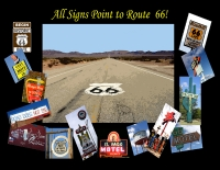 All Signs Point to Route 66 Postcard