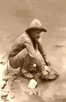 Miner on the Colorado River 11x17 Poster