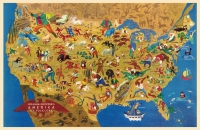 Folklore Cartoon Map 11x17 Poster