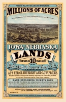 Millions of Acres - Iowa and Nebraska (1872) 11x17 Poster