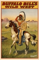 Buffalo Bill Wild West Show Indian Poster