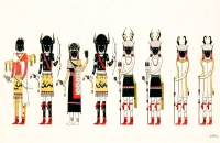 Buffalo Deer Dancers Mini Poster