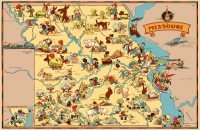 Missouri Cartoon Map 11x17 Poster