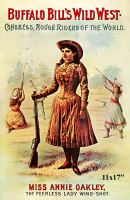 Annie Oakley in Buffalo Bill Wild West Show Mini Poster